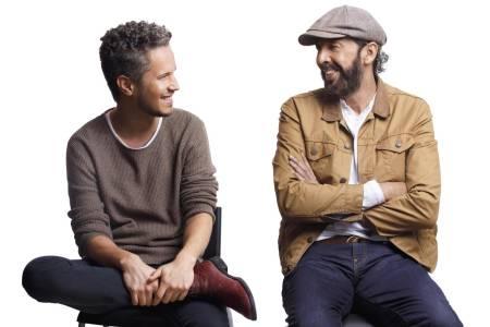 Vicente y Juan      Luis se unen para cantar merengue